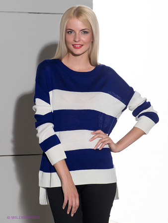 Купить Джемпер Irma Stripe Drop Shoulder Pullover Sweater
